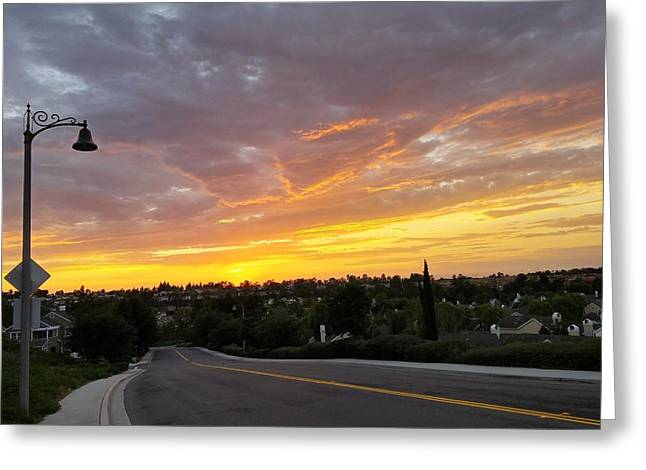 Colorful Sunset In Mission Viejo Greeting Card