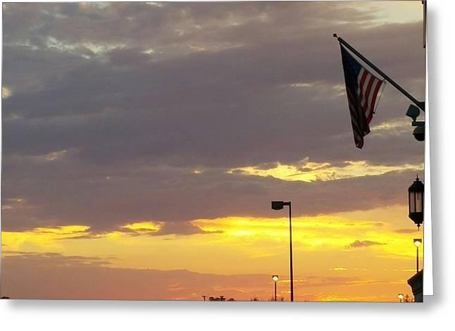 Patriotic Sunset Greeting Card