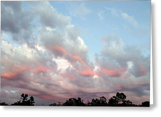 Amazing Clouds At Dusk Greeting Card