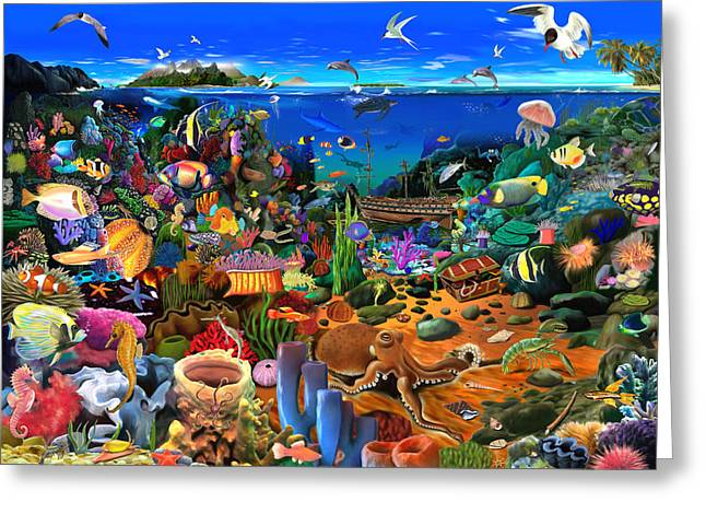 Amazing Coral Reef Greeting Card