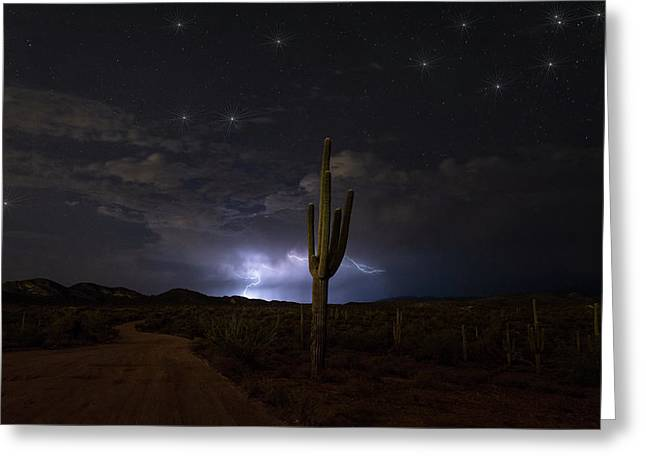 Amazing Desert Night  Greeting Card by Saija Lehtonen