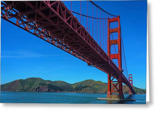 Amazing Golden Gate Bridge Greeting Card by Garry Gay