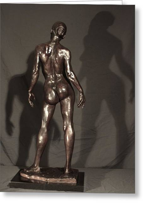 Recently Sold -  - African-americans Sculptures Greeting Cards - Amazing Grace back view Greeting Card by Dan Earle