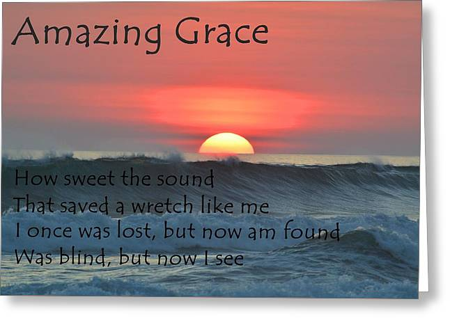 Amazing Grace Ocean Sunset Greeting Card