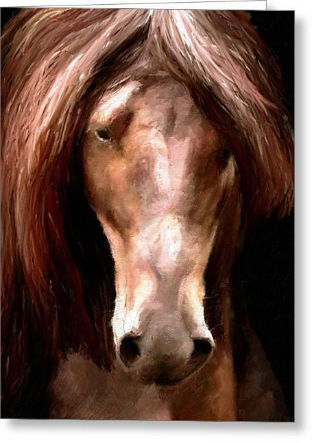 Greeting Card featuring the painting Amazing Horse by James Shepherd