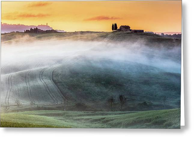 Amazing Landscape Of Tuscany Greeting Card by Evgeni Dinev