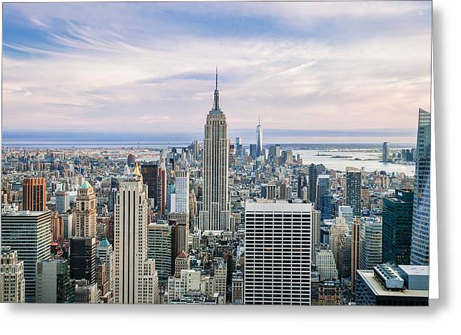 Amazing Manhattan Greeting Card by Az Jackson