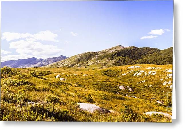 Amazing Mountain Panorama Landscape Greeting Card by Jorgo Photography - Wall Art Gallery