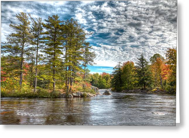 Amazing September Day On The River Greeting Card