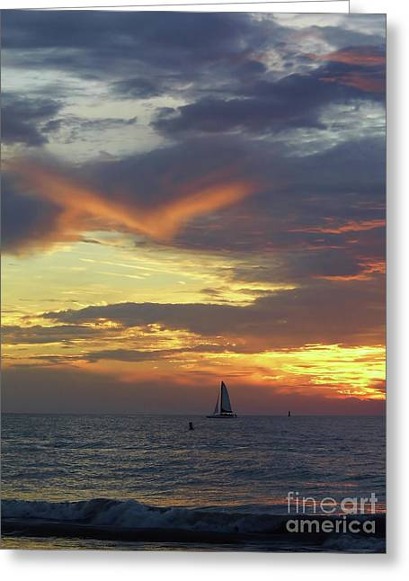 Amazing Sky At Sunset Greeting Card by D Hackett