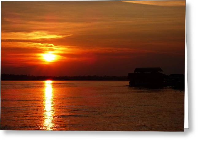 Amazon Sunset #2 Greeting Card by Michael Cook