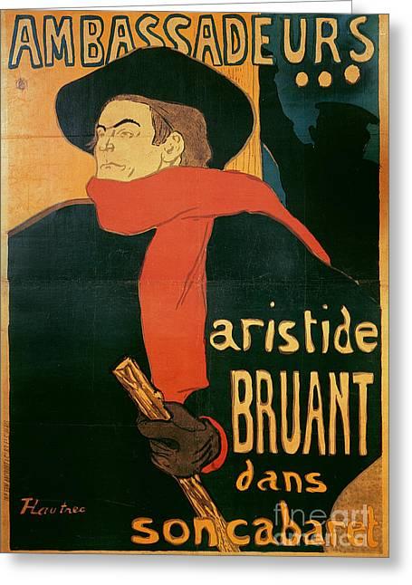 Ambassadeurs Greeting Card by Henri de Toulouse-Lautrec