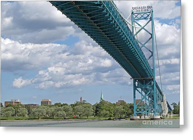 Ambassador Bridge - Windsor Approach Greeting Card