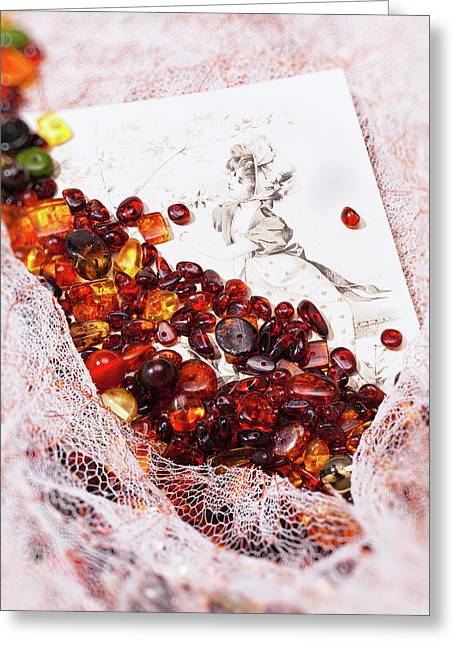Greeting Card featuring the photograph Amber #8925 by Andrey  Godyaykin