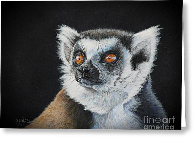 Amber Eyes......lemur Greeting Card