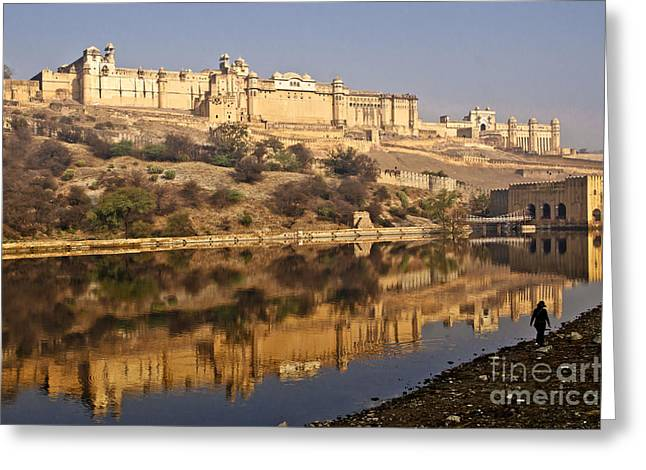 Amber Fort Greeting Card