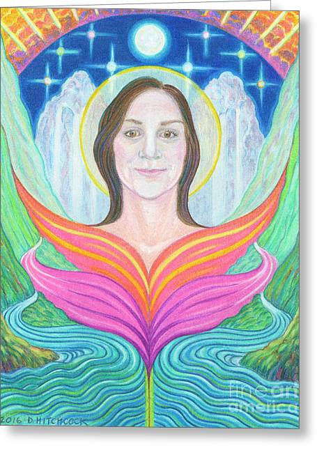 Amber - Lady Of Light Greeting Card