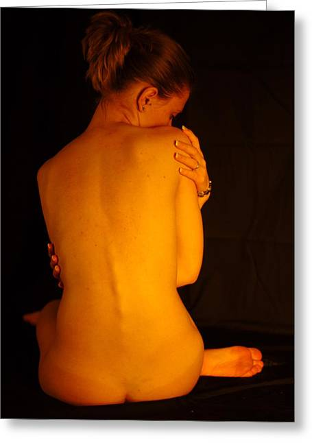 Amber Nudes 2 Greeting Card