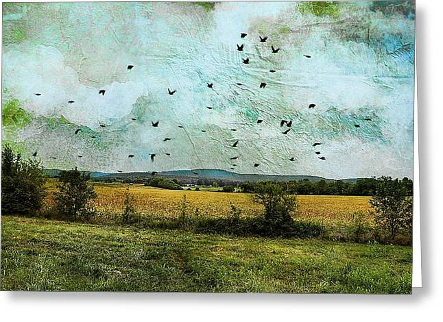 Amber Waves Of Grain Greeting Card by Jan Amiss Photography