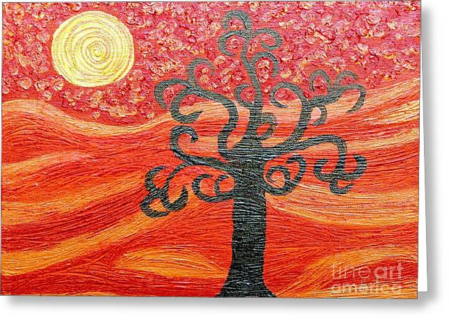 Ambient Bliss Greeting Card by Rachel Hannah