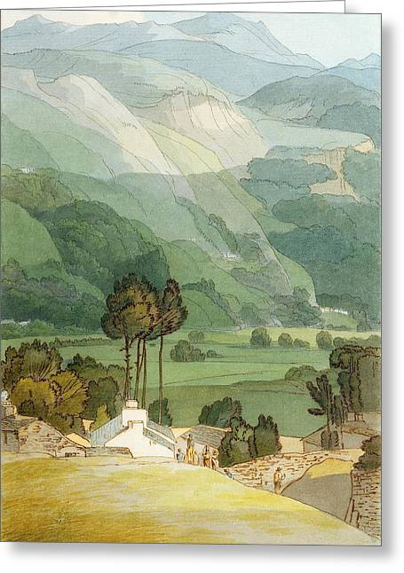 Pen Greeting Cards - Ambleside Greeting Card by Francis Towne