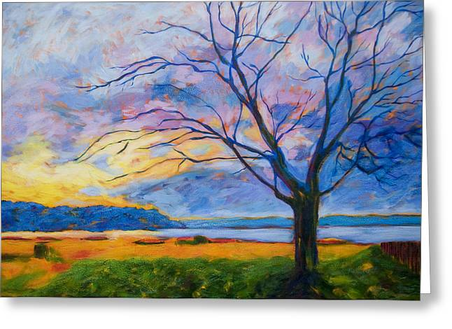 Ambleside Tree Greeting Card by Lisa Wolfin