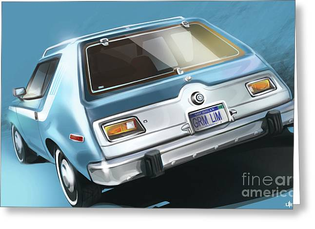 Amc Gremlin Throwback Greeting Card by Uli Gonzalez