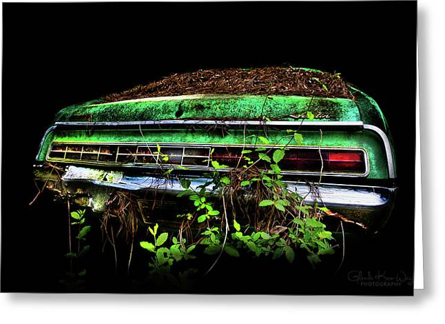 Greeting Card featuring the photograph Amc Javelin  by Glenda Wright