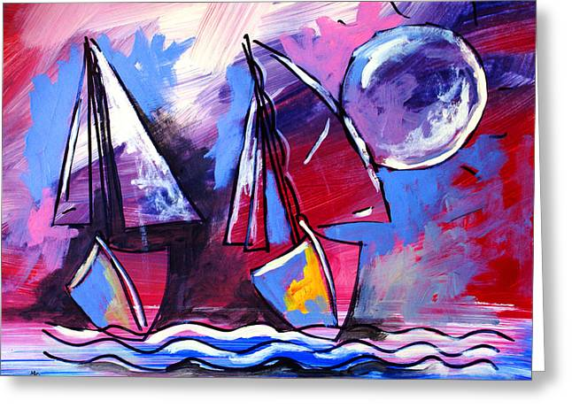 Ameeba- Sailboats 2 Greeting Card