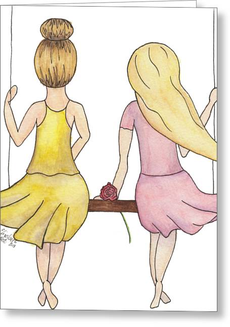 Amelia And Lillian Greeting Card