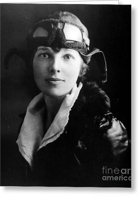 Amelia Earhart, American Aviatrix Greeting Card by Science Source