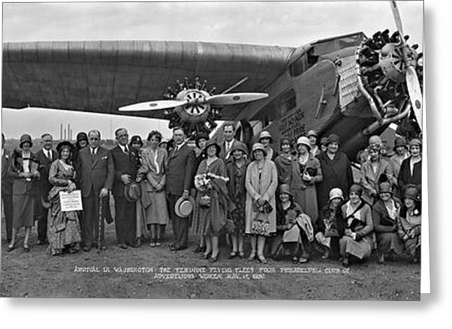 Amelia Earhart Washington Dc Airfield Greeting Card