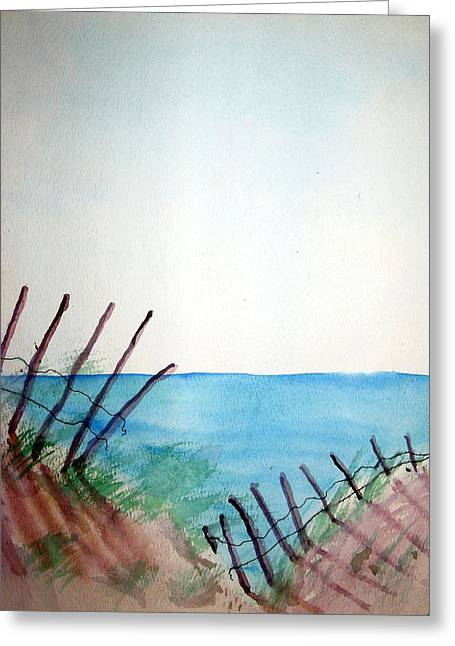 Amelia Island Greeting Card by Leigh Odom