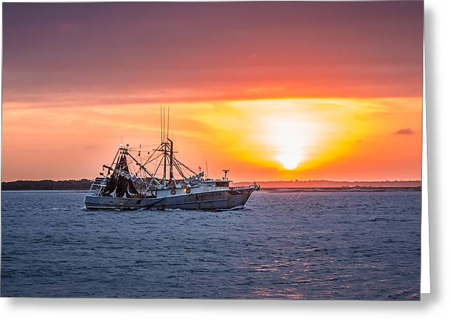 Amelia River Sunset 25 Greeting Card