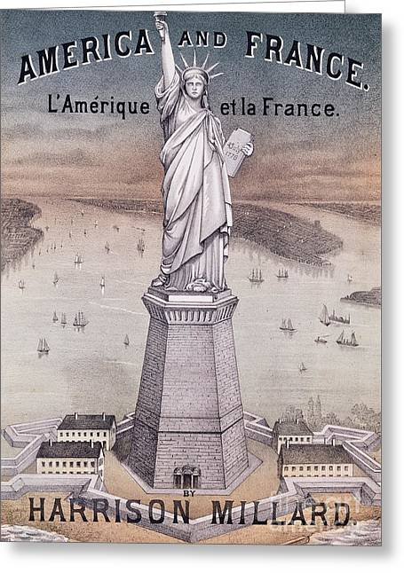 America And France Greeting Card