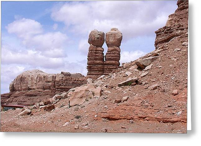 America - Kissing Stones Greeting Card by Jeffrey Shaw