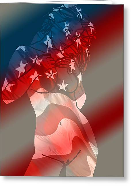 American Independance Digital Greeting Cards - America Greeting Card by Tbone Oliver