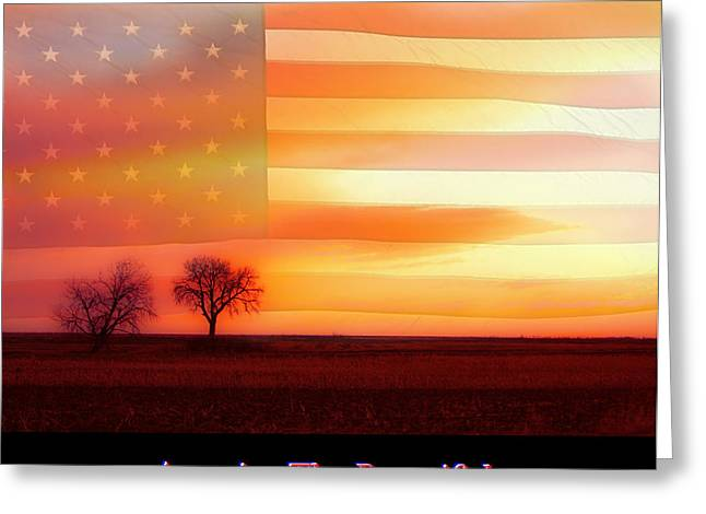 America The Beautiful Country Poster Greeting Card