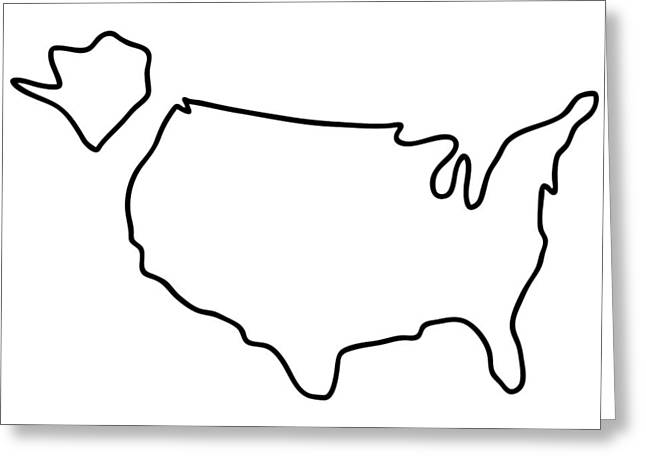 america USA map Greeting Card