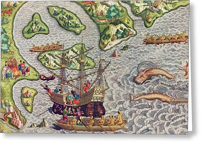 Americae Tertia Pars Greeting Card by Theodore de Bry