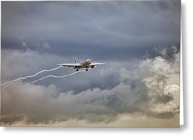 American Aircraft Landing Greeting Card