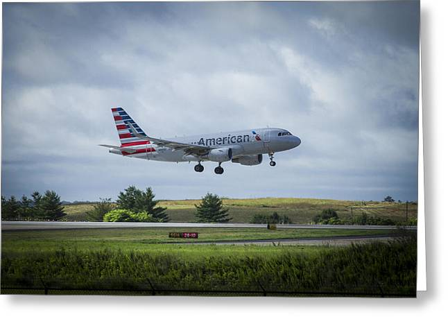 American Airlines Airbus 319 N9015d Greeting Card