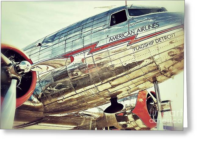 American Airlines Greeting Card by AK Photography