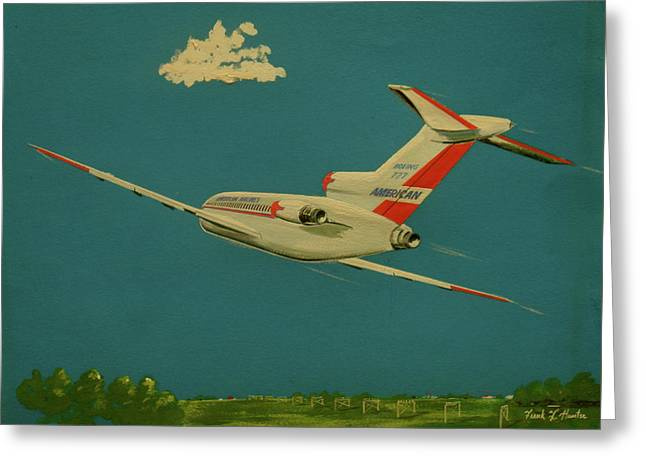 American Airlines Boeing 727 Greeting Card