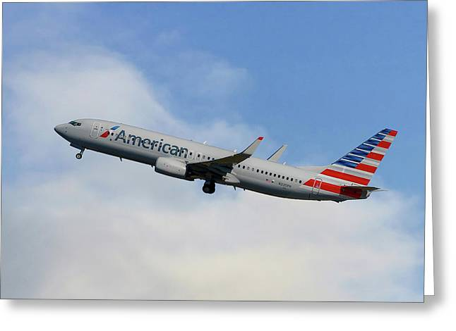 American Airlines Boeing 737-823 Greeting Card