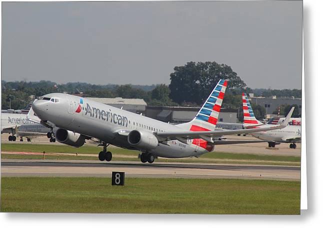 American Airlines N989nn Greeting Card