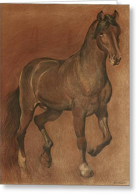 American Beauty Horse Greeting Card by Ezartesa Art