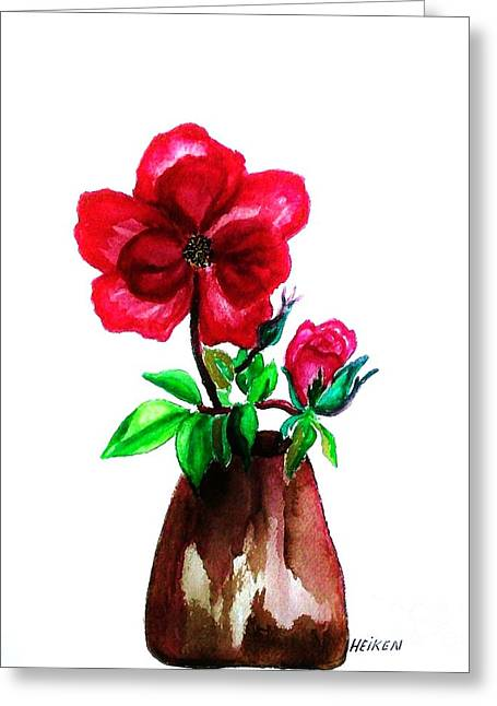 American Beauty Rose Greeting Card