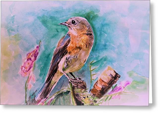 American Blue Bird Greeting Card
