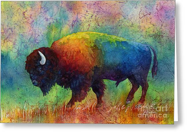 American Buffalo 6 Greeting Card by Hailey E Herrera